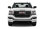 Car photography straight front view of a 2017 GMC Sierra-1500 Double-Cab 4 Door Pickup Front View