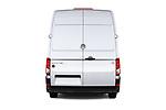 Straight rear view of a 2017 Volkswagen Crafter Base 4 Door Cargo Van stock images