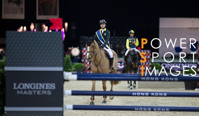 Jacqueline Lai during the HKJC Race of the Riders during the Longines Masters of Hong Kong on 19 February 2016 at the Asia World Expo in Hong Kong, China. Photo by Victor Fraile / Power Sport Images