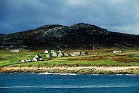 Abandoned island settlement off the coast of Donegal, Ireland