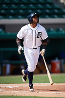 Detroit Tigers Dawel Lugo (71) at bat during an Instructional League game against the Toronto Blue Jays on October 12, 2017 at Joker Marchant Stadium in Lakeland, Florida.  (Mike Janes/Four Seam Images)
