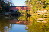 The Narrows Covered Bridge over Sugar Creek; Montgomery County, IN