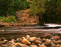 Temperance River, north shore of Lake Superior, Temperance River State Park, MN. Temperance River State Park, Minnesota.