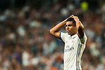 Carlos Henrique Casemiro of Real Madrid reacts during their La Liga match at the Santiago Bernabeu Stadium between Real Madrid and RC Celta de Vigo on 27 August 2016 in Madrid, Spain. Photo by Diego Gonzalez Souto / Power Sport Images