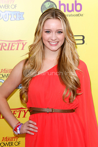 Greer Grammer at Variety's 5th Annual Power Of Youth Event at Paramount Studios on October 22, 2011 in Hollywood, California. © MPI21 / MediaPunch Inc.