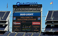 San Diego, CA - Sunday July 30, 2017: 2017 Tournament of Nations at Qualcomm Stadium during a 2017 Tournament of Nations match between the women's national teams of the Australia (AUS) and Japan (JAP) at Qualcomm Stadium.