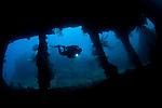 The wreck of the USS Liberty, Tulamben, Bali, Indonesia, Pacific Ocean