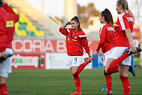 20190227 - LARNACA , CYPRUS : Austrian Viktoria Pinther pictured during warming up of a women's soccer game between the Super Falcons of Nigeria and Austria , on Wednesday 27 February 2019 at the AEK Arena in Larnaca , Cyprus . This is the first game in group C for both teams during the Cyprus Womens Cup 2019 , a prestigious women soccer tournament as a preparation on the Uefa Women's Euro 2021 qualification duels. PHOTO SPORTPIX.BE | DAVID CATRY