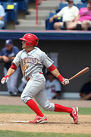 Clearwater Threshers shortstop Carlos Alonso #17 during a game against the Brevard County Manatees at Space Coast Stadium on April 30, 2012 in Viera, Florida.  Clearwater defeated Brevard County 5-1.  (Mike Janes/Four Seam Images)