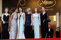 EMMANUELLE BERCOT , BERENICE BEJO , ELODIE BOUCHEZ , ISABELLE HUPPERT , EMILIE DEQUENNE , JULIETTE BINOCHE - 70EME FESTIVAL DE CANNES - RED CARPET SOIREE D'ANNIVERSAIRE