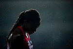 SHANGHAI, CHINA - MAY 19:  Tiffany Townsend of USA reacts under the rain after finished in 6th place in the Women 200m during the Samsung Diamond League on May 19, 2012 at the Shanghai Stadium in Shanghai, China.  Photo by Victor Fraile / The Power of Sport Images
