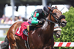 May 15, 2015: Seventh Son, ridden by Daniel Centeno, wins the 1st running of the Sgt. Reckless Memorial Dash at Pimlico Race Course in Baltimore, MD. Joan Fairman Kanes/ESW/CSM