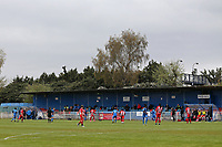 General view of the action behnd closed doors during Redbridge vs Clapton, Len Cordell Memorial Cup Football at Oakside Stadium on 10th April 2021