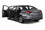 Car images close up view of a 2020 Nissan Versa SV 4 Door Sedan doors
