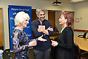 """MIAMI, FL - FEBRUARY 06: Radio host/author Diane Rehm talking to Mitchell Kaplan and Dr. Cristina Pozo-Kaderman during Diane Rehm signing of her new book """"When My Time Comes"""" Presented in collaboration with Miami Book Fair and Books and Books at Miami Dade College-Wolfson Auditorium on February 6, 2020 in Miami, Florida.   ( Photo by Johnny Louis / jlnphotography.com )"""