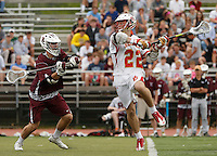 The Ridgewood Maroons vs the Bergen Catholic Crusaders Boys Lacrosse - Bergen County Tournament Final, at the Mahwah HS field, Mahwah, NJ, Saturday, May 9, 2015.  The Crusaders defeated the Maroons in OT by the score of 9 - 8.