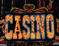 Neon casino sign, Las Vegas, Nevada, US
