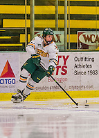 1 February 2015: University of Vermont Catamount Defender Rachael Ade, a Sophomore from Davenport, FL, in first period action against the visiting Providence College Friars at Gutterson Fieldhouse in Burlington, Vermont. The Lady Cats defeated the Friars 7-3 in Hockey East play. Mandatory Credit: Ed Wolfstein Photo *** RAW (NEF) Image File Available ***