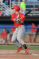Williamsport Crosscutters second baseman Sam Dove (37) during a game against the Batavia Muckdogs on September 4, 2013 at Dwyer Stadium in Batavia, New York.  Williamsport defeated Batavia 6-3 in both teams season finale.  (Mike Janes/Four Seam Images)