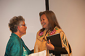 Washington DC, USA. Chico Vive conference, 5th April 2014. Aunty Joan Hendricks, Australia and Chief Liz Logan, Canada.
