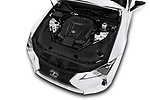 Car stock 2018 Lexus LC 500 Sport Plus 2 Door Coupe engine high angle detail view