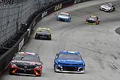 "#20: Erik Jones, Joe Gibbs Racing, Toyota Camry Craftsman ""Racing for a Miracle"", #42: Kyle Larson, Chip Ganassi Racing, Chevrolet Camaro Credit One Bank"