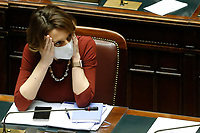 The minister of Family Elena Bonetti at the Chamber of Deputies during the discussion and vote of confidence in the new Government. Rome (Italy), February 18th 2021<br /> Photo Samantha Zucchi Insidefoto