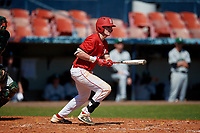 Bradley Braves Brendan Dougherty (26) bats during a game against the Dartmouth Big Green on March 21, 2019 at Chain of Lakes Stadium in Winter Haven, Florida.  Bradley defeated Dartmouth 6-3.  (Mike Janes/Four Seam Images)