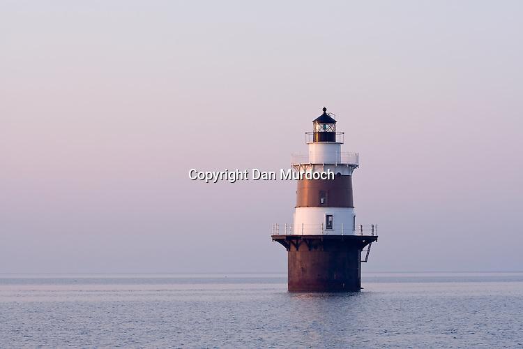 Peck's Ledge Lighthouse in the morning light