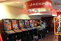 A gaming centre in a Motorway Service station, London, UK<br /> 01-Oct-2013