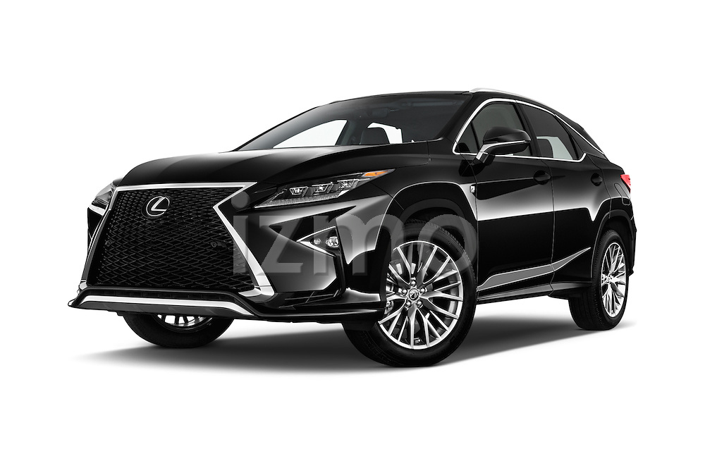 Stock pictures of low aggressive front three quarter view of 2016 Lexus RX F SPORT 5 Door Suv 2WD Low Aggressive