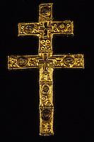 Europe/France/Auvergne/15/Cantal/Brageac: Eglise - Détail croix de Saint Till XIIIème siècle