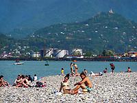 Strand von Batumi, Adscharien - Atschara, Georgien, Europa<br /> beach, Batumi, Adjara,  Georgia, Europe