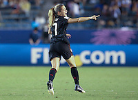 Tokyo, Japan - Saturday, Sept. 8, 2012: The United States defeated defending champion Germany 1-0 on Saturday in the 2012 FIFA Under-20 Women's World Cup at the Tokyo National Stadium. Kealia Ohai celebrates after scoring the winning goal.