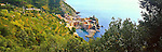 View of Vernazza, Cinque Terre, Italy<br /> <br /> Image taken on large format panoramic 6cm x 17cm transparency. Available for licencing and printing. email us at contact@widescenes.com for pricing.
