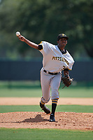 GCL Pirates starting pitcher Yeudry Manzanillo (30) delivers a pitch during a game against the GCL Braves on July 27, 2017 at ESPN Wide World of Sports Complex in Kissimmee, Florida.  GCL Braves defeated the GCL Pirates 8-6.  (Mike Janes/Four Seam Images)