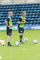 Wycombe Wanderers Manager Gareth Ainsworth (left) during the Open Training Session in front of supporters during the Wycombe Wanderers 2016/17 Team & Individual Squad Photos at Adams Park, High Wycombe, England on 1 August 2016. Photo by Jeremy Nako.