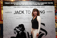 """Pictured: Melanie Walters. Sunday 14 September 2014<br /> Re: Film premiere of """"Jack To A King"""" depicting the recent history pf Swansea City Football Club, at the Odeon Cinema, Swansea, south Wales, UK."""