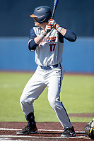 Illinois Fighting Illini designated hitter Justin Janas (17) at bat during the NCAA baseball game against the Michigan Wolverines on March 20, 2021 at Fisher Stadium in Ann Arbor, Michigan. Michigan won the game 8-1. (Andrew Woolley/Four Seam Images)