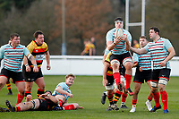 Jamie Ure of Blackheath Rugby catches the ball during the English National League match between Richmond and Blackheath  at Richmond Athletic Ground, Richmond, United Kingdom on 4 January 2020. Photo by Carlton Myrie.