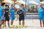 (R-L) Takasuke Goto, Shunta Suzuki,   Marcelo Mendes, Masayuki Komaki (JPN),<br /> APRIL 20, 2014 - Beach Soccer :<br /> Beach Soccer Japan national team candidates training camp in Okinawa, Japan. (Photo by Wataru Kohayakawa/AFLO)