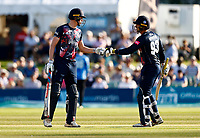 Zak Crawley (L) and George Munsey of Kent during Kent Spitfires vs Sussex Sharks, Vitality Blast T20 Cricket at The Spitfire Ground on 18th July 2021
