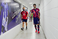 SAN PEDRO SULA, HONDURAS - SEPTEMBER 8: Christian Pulisic #10 of the United States makes his way through the tunnel during a game between Honduras and USMNT at Estadio Olímpico Metropolitano on September 8, 2021 in San Pedro Sula, Honduras.