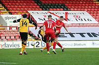 O's Hector Kyprianou equalises and celebrtes during Leyton Orient vs Newport County, Emirates FA Cup Football at The Breyer Group Stadium on 7th November 2020