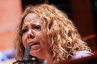 United States Representative Lucy McBath (Democrat of Georgia) asks questions during a House Judiciary Committee hearing to discuss police brutality and racial profiling on Wednesday, June 10, 2020.<br /> Credit: Greg Nash / Pool via CNP/AdMedia