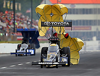 May 5, 2018; Commerce, GA, USA; NHRA top fuel driver Antron Brown during qualifying for the Southern Nationals at Atlanta Dragway. Mandatory Credit: Mark J. Rebilas-USA TODAY Sports