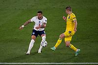 3rd July 2021, Stadio Olimpico, Rome, Italy;  Euro 2020 Football Championships, England versus Ukraine quarter final;  Kyle Walker England against Vitaliy Mykolenko Ukraine