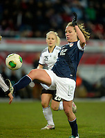 Offenbach, Germany, Friday, April 05 2013: Womans, Germany vs. USA, in the Stadium in Offenbach,   Lauren Cheney (USA)..