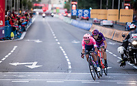 Daniel Felipe Martínez (COL/EF Education First) & Diego Rubio (ESP/Burgos-BH) leading the race for a few laps streets of Madrid<br /> <br /> Stage 21: Fuenlabrada to Madrid (107km)<br /> La Vuelta 2019<br /> <br /> ©kramon