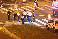 WASHINGTON, DC - JULY 17 : Police investigate as two were shot outside Nationals Park during Nationals game against the San Diego Padres in Washington, D.C. on July 17, 2021. <br /> CAP/MP34<br /> ©MPI34/Capital Pictures
